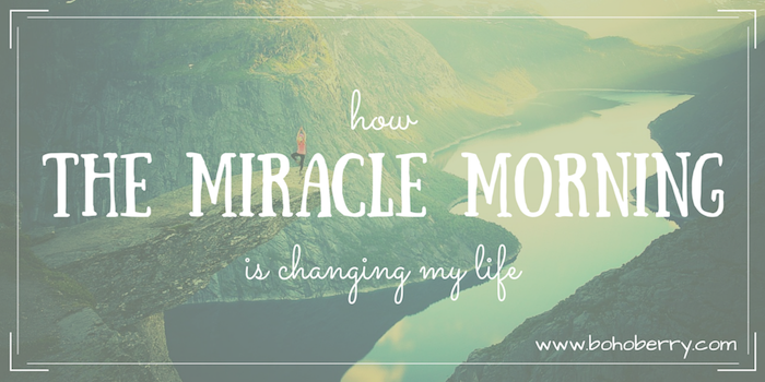 How The Miracle Morning is changing my life